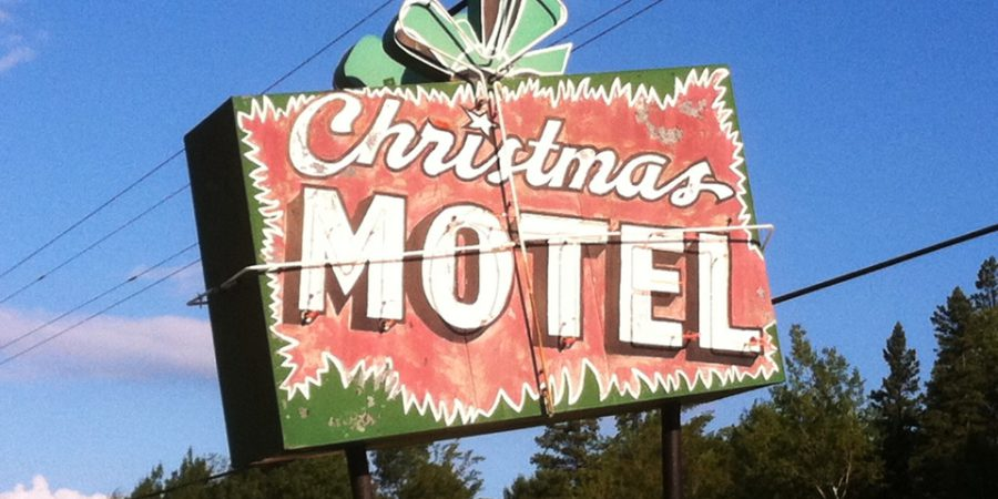 The sign at Christmas Motel - Munising, Michigan